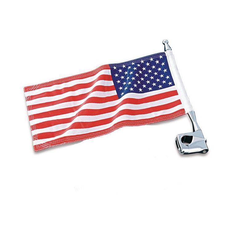Clamp On Flag Pole Holder : Kuryakyn tube clamp flag pole mount off