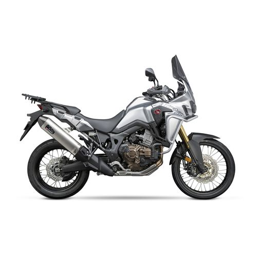 yoshimura rs 4 slip on exhaust honda africa twin 2016 2017 revzilla. Black Bedroom Furniture Sets. Home Design Ideas