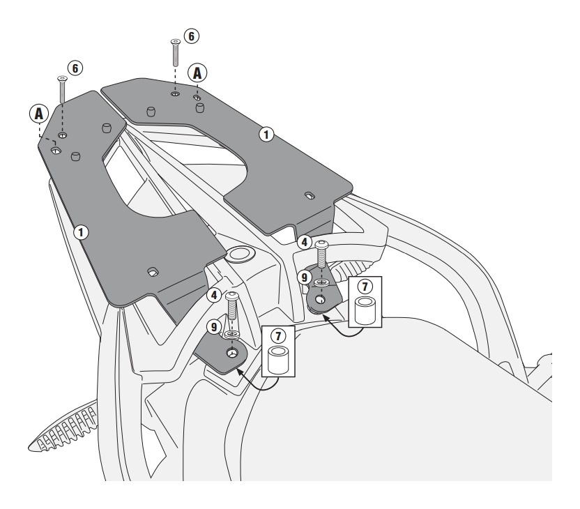 Givi Sr5109 Top Case Rack Bmw F800gt F800r F800st