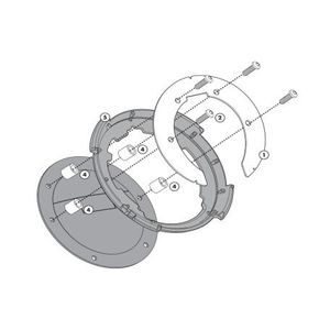 Givi Tanklock Bike Specific Flange BF19 [Previously Installed]