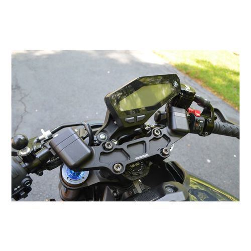 woodcraft clip on risers w adapter plate yamaha fz 09