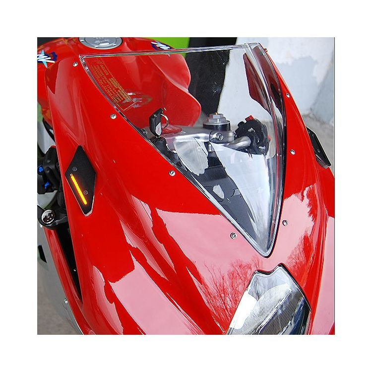 New Rage Cycles Mirror Block Off LED Turn Signals MV Agusta F3 / F4