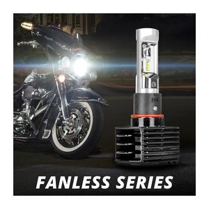 XK Glow Fanless H4 High/Low Beam LED Headlight Conversion Kit