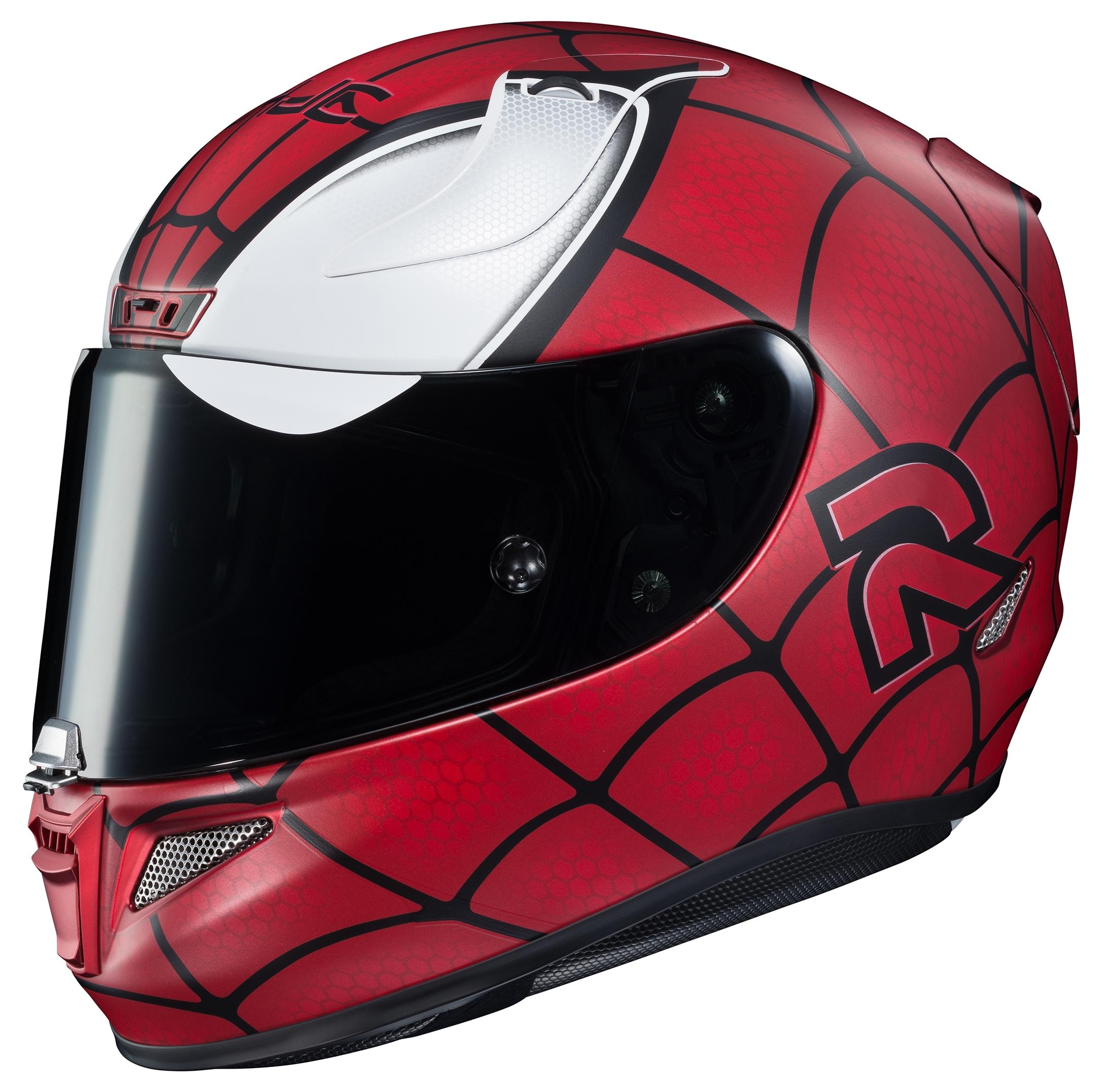 Hjc rpha 11 pro spiderman helmet 50 off revzilla - Spider man moto ...