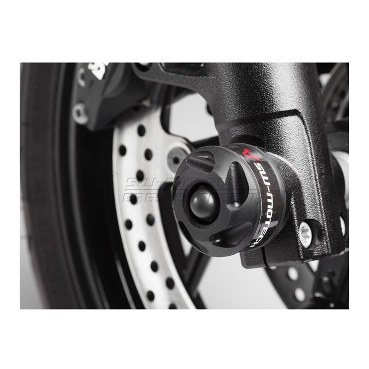 SW-MOTECH Front Axle Sliders BMW F800R 2009-2014 Black [Previously Installed]