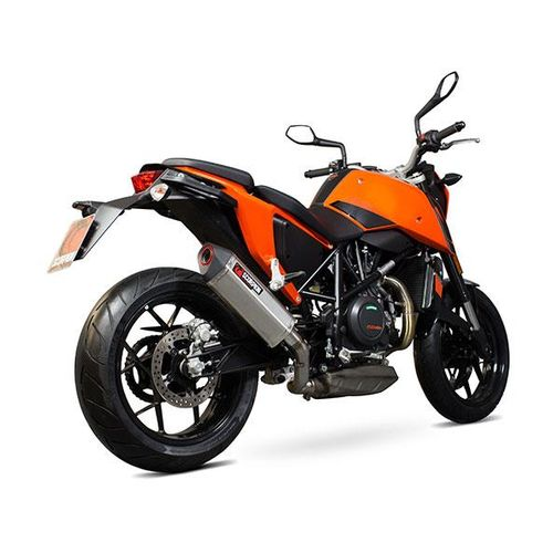 scorpion serket taper slip-on exhaust ktm 690 duke 2013-2017