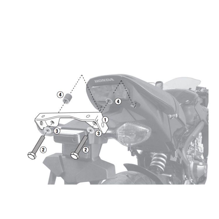 Givi 1137KIT Brackets For Side Case Racks Honda CB650F / CBR650F 2014-2018