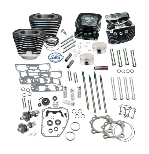 Twin Cam Black Big Bore Kit for Harley Davidson 1999-2006 Twin Cam m S/&S 95 in