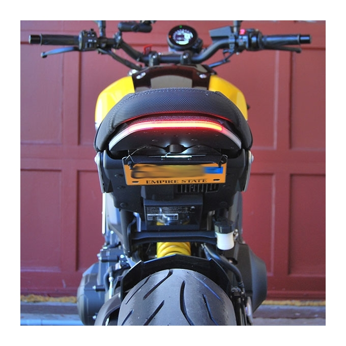 New Rage Cycles LED Fender Eliminator Tucked License Plate Bracket Compatible for Yamaha XSR900 2016-2021