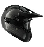 Shark Explore-R Carbon Helmet Black Carbon / LG [Demo - Good]