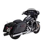 "Vance & Hines Titan 4 1/2"" Oversized Slip-On Mufflers For Harley Touring"
