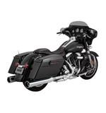 """Vance & Hines Raider 4 1/2"""" Oversized Slip-On Mufflers For Harley Touring"""
