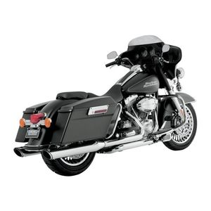"Vance & Hines 4"" Round Twin Slash Slip-On Mufflers For Harley"