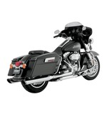 """Vance & Hines 4"""" Round Twin Slash Slip-On Muffler For Harley"""