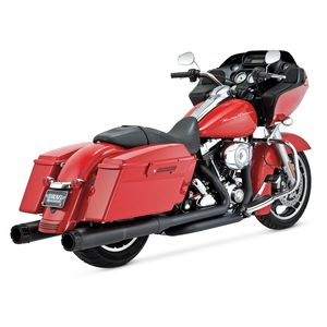 "Vance & Hines 4 1/2"" Hi-Output Slip-On Mufflers For Harley Touring"