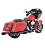"""Vance & Hines 4 1/2"""" Hi-Output Slip-On Mufflers For Harley Touring"""