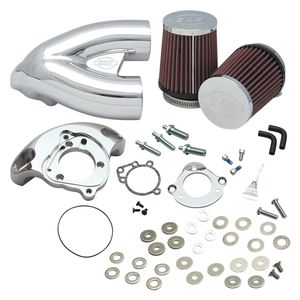 S&S Single Bore Tuned Induction Kit For Harley EFI Big Twin 2001-2017