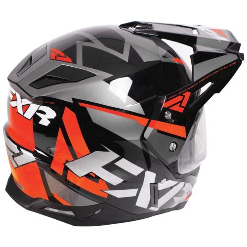 helmet team fxr fx snowmobile shield electric heated helmets lightweight racing revzilla sell orange zoom