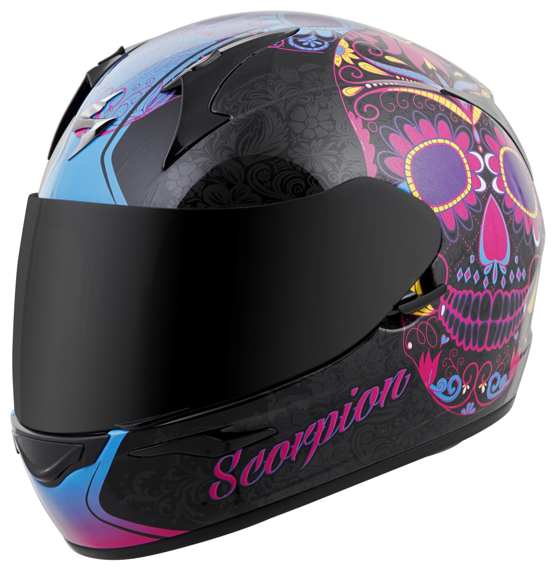 Sugar Skull Motorcycle Helmets - Helmet decals motorcycle womens