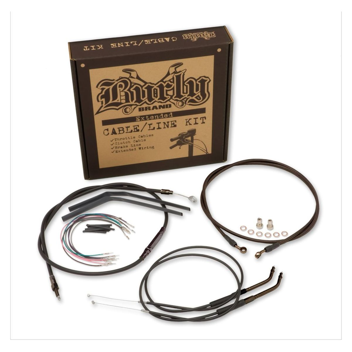 """12/"""" Throttle Cable Set 2006-2017 Harley Dyna Street Bob Stainless Braided"""