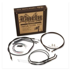 Burly T-Bar Cable Installation Kit For Harley Dyna 2007-2011