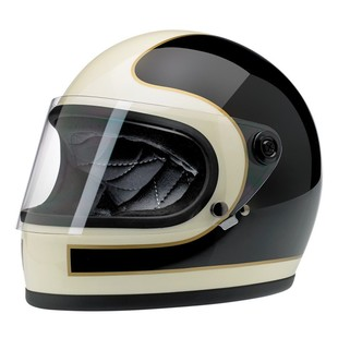 Biltwell Gringo S Tracker Limited Edition Helmet Black/White/Gold / 2XL [Blemished - Very Good]