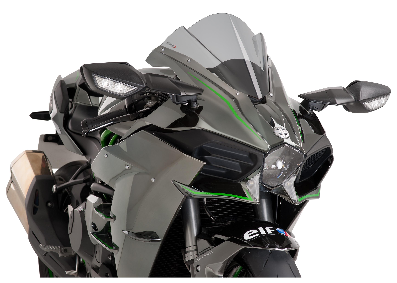 PUIG  Racing Windscreen Dark Smoke  2016-2019 Kawasaki ZX-10R