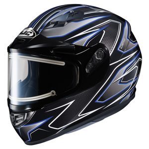 HJC CS-R3 Spike Snow Helmet - Electric Shield (MD)