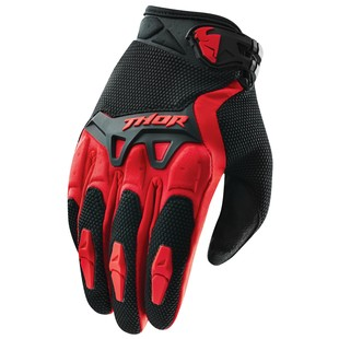 Thor Youth Spectrum Gloves Red / LG [Blemished - Very Good]
