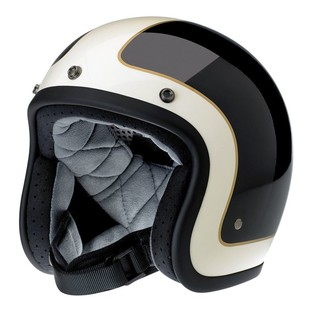 Biltwell Bonanza Tracker Limited Edition Helmet Black/White/Gold / SM [Blemished - Very Good]