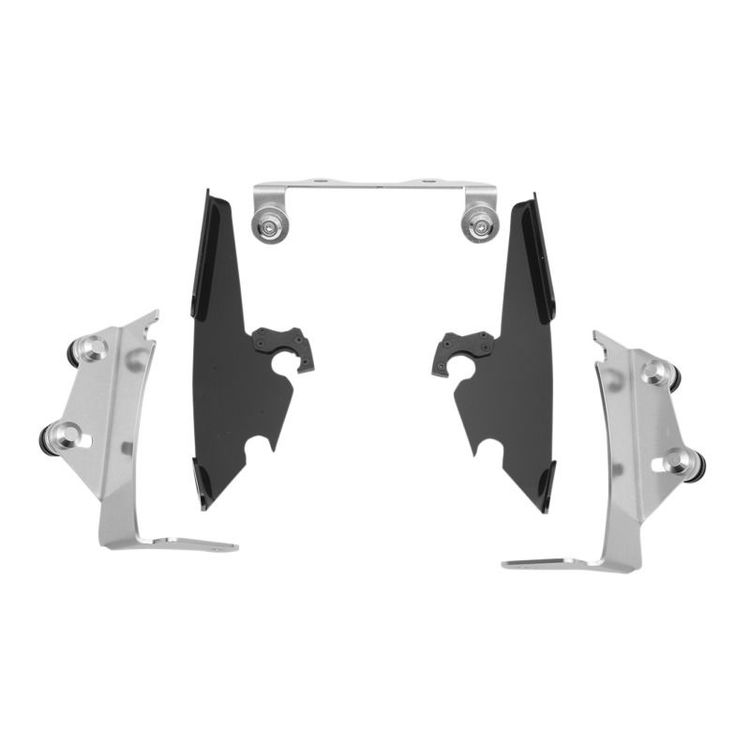 Memphis Shades Metric Fats/Slim/Sportshield Trigger-Lock Mount Kit Kawasaki Vulcan VN900B/D Black [Open Box]