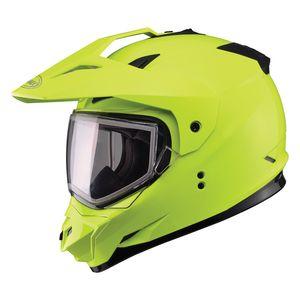 GMax GM11S Snow Hi-Viz Helmet - Dual Lens