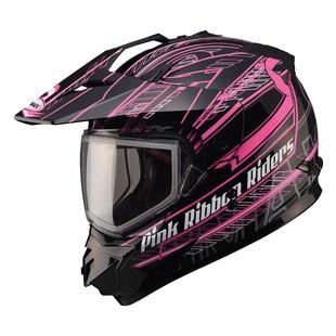 GMax GM11S Pink Ribbon Riders Snow Helmet - Dual Lens