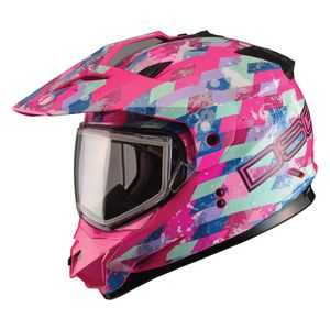 GMax GM11S DSG Checked Out Snow Helmet - Dual Lens (2XL)