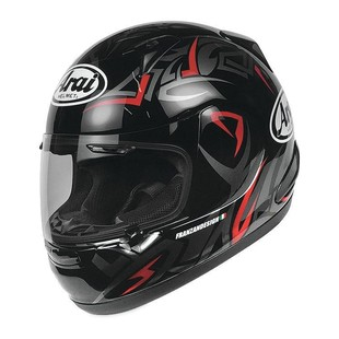 Arai RX-Q Groove Helmet Black/Red / SM [Blemished - Very Good]