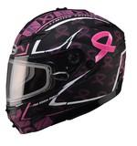 GMax GM54S Pink Ribbon Snow Helmet - Dual Lens