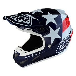 Troy Lee SE4 Freedom Helmet (Color: Red/White/Blue / Size: XS)