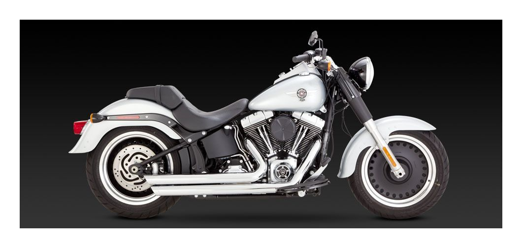 Vance & Hines Big Shots Staggered Exhaust For Harley Softail 1986-2017