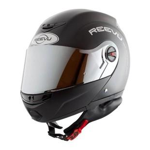 Reevu FSX1 Rear-View Modular Helmet Matte Black / 2XL [Blemished - Very Good]