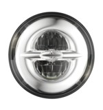 "Drag Specialties LED 7"" Headlight For Harley"