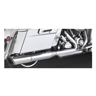 "Vance & Hines 4"" Round Twin Slash Slip-On Muffler For Harley Road Glide / Street Glide 2010 Chrome [Blemished - Very Good]"