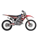 Factory Effex Metal Mulisha Shroud / Airbox Graphics Kit Honda CR125R / CR250R 2000-2001