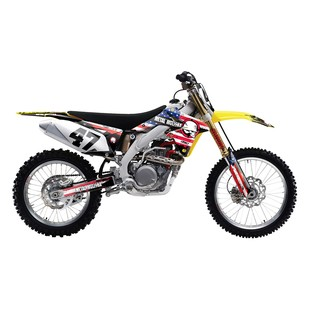 Factory Effex Metal Mulisha Shroud / Airbox Graphics Kit Suzuki RM125 / RM250 2001-2008