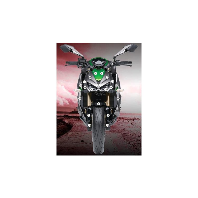Eazi-Grip Eazi-Guard Protective Film Kit Kawasaki Z1000 2014-2016