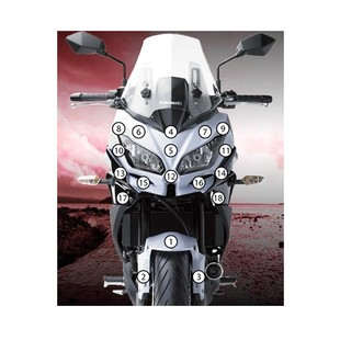 Eazi-Grip Eazi-Guard Protective Film Kit Kawasaki Versys 650 2015-2017