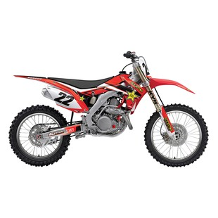 Factory Effex Rockstar Shroud / Airbox Graphics Kit Honda CRF250R / CRF450R 2013-2017