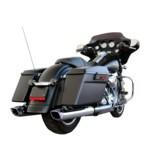 "Firebrand Exhaust 4"" Baritone Slip-On Mufflers For Harley Touring 1995-2016"