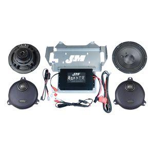 J&M Rokker XXR Extreme 330W Speaker And Amplifier Kit For Harley Touring 2014-2018