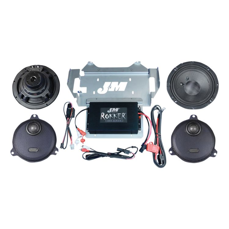 J&M Rokker XXR Extreme 330W Speaker And Amplifier Kit For Harley Touring 2014-2019