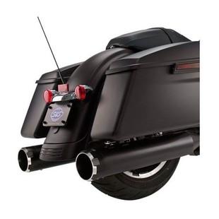 """S&S 4.5"""" MK45 Thruster Slip-On Mufflers For Harley Touring"""